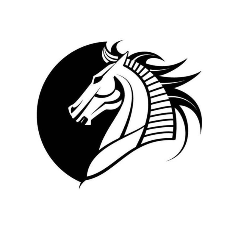 Horse Head Logo Car Sticker Alkenyl Car Packaging Accessories Decal