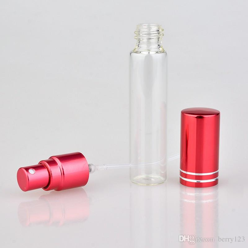 10ML 휴대용 유리 Refillable 향수 병 atomizer와 함께 여행을위한 분무기와 빈 화장품 용기 빈 화장품 포장
