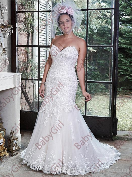 0496d2a52c0 Beautifully Embellished Lace Adorns This Dramatic Fit And Flare Mermaid Wedding  Dresses With A Sweetheart Neckline Wedding Party Dresses Affordable Wedding  ...