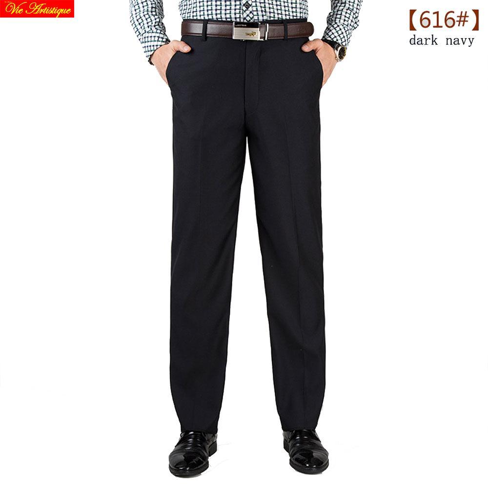 0969ab98a7f Compre Pantalones De Trabajo Del Vestido De Compresión De Los Hombres Al  Por Mayor De Invierno Pantalones Casuales De Algodón Mezcla De Lana De Lino  De Pana ...