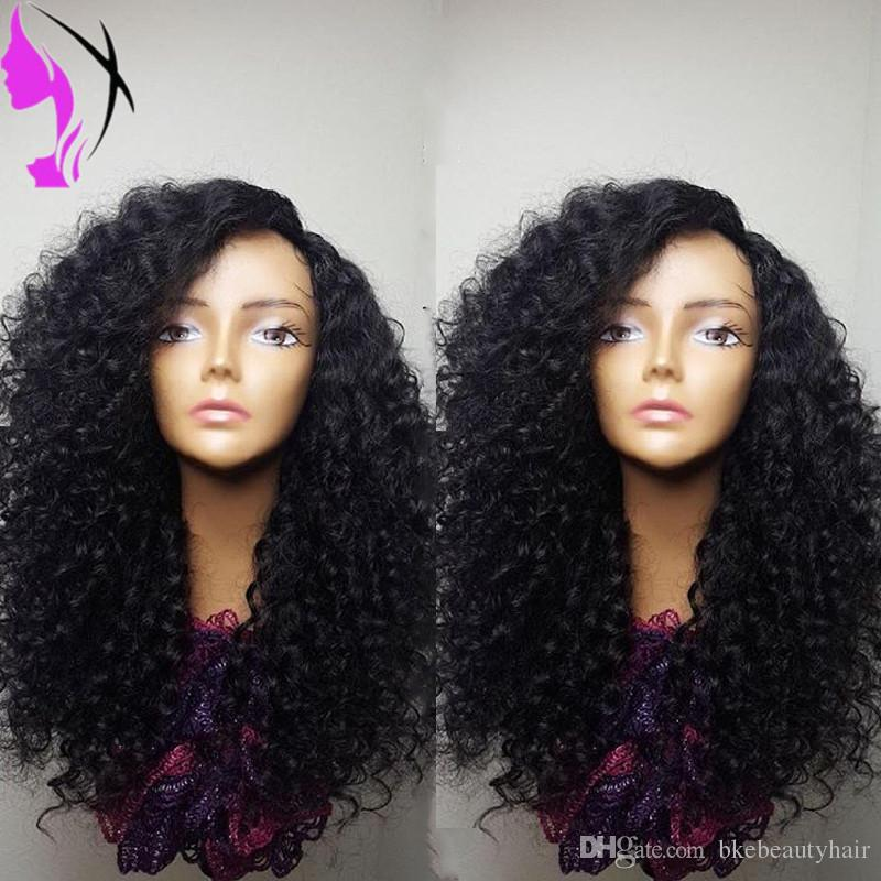 180density full kinky curly Synthetic Lace Front Wig Glueless Heat Resistant Fiber short curly wig With Baby Hair For Women Wigs