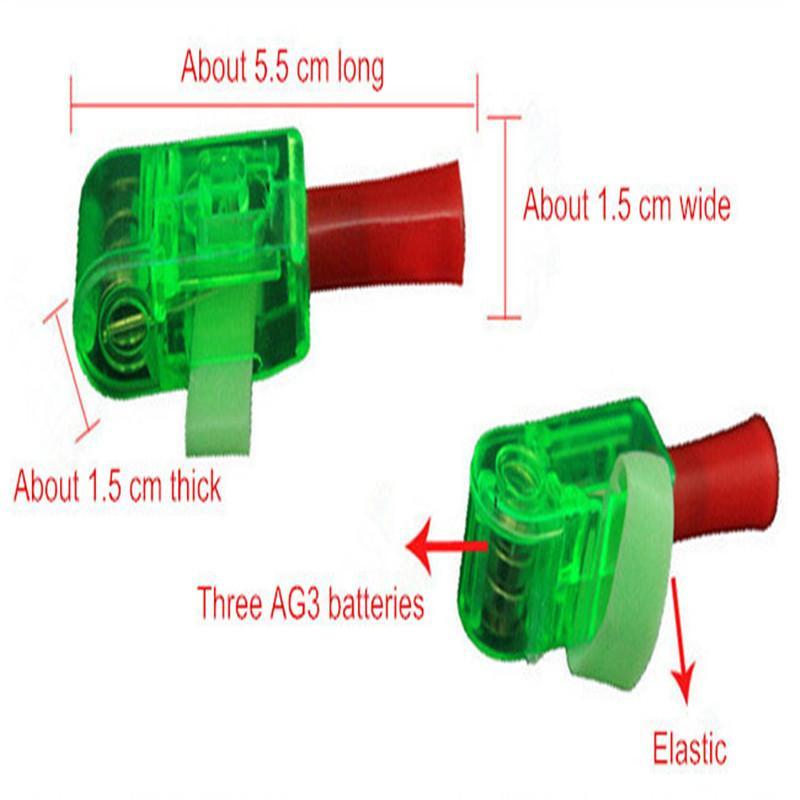 Projection Finger Light LED Lamp Strange New Light-emitting Electronic Toys Gifts Luminous Hand Ring Random Shiping