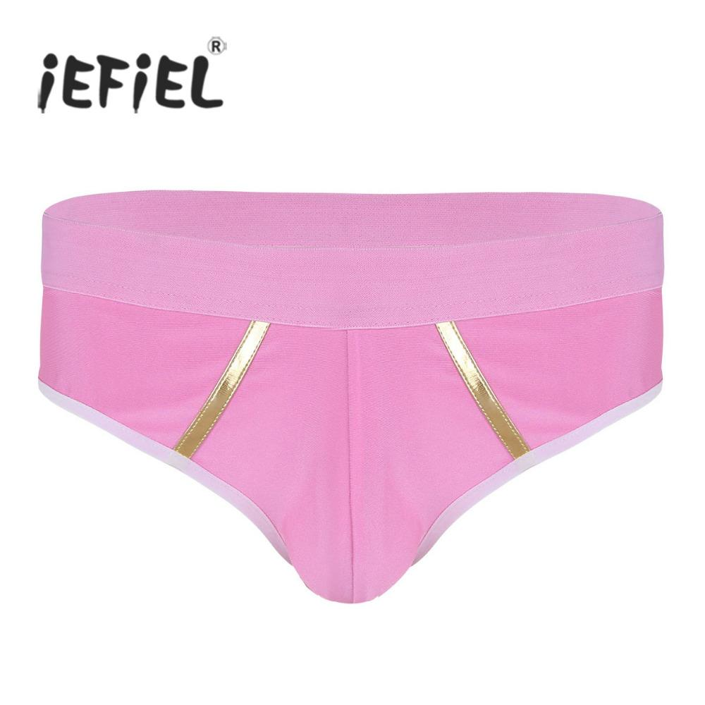 84b6702dd 2019 NEW Men Underwear Lingerie Sexy Gay Panties For Mens Bulge Pouch Low  Rise Gold Strip Stretchy Bikini Briefs Underwear Panties From Weikelai, ...