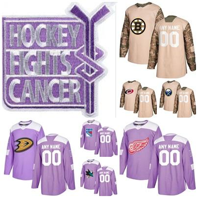 separation shoes f94f2 a798e Boston Bruins Detroit Red Wings Buffalo Sabres Anaheim Ducks Veterans Day  San Jose Sharks Carolina Hurricanes Fights Cancer Practice Jersey