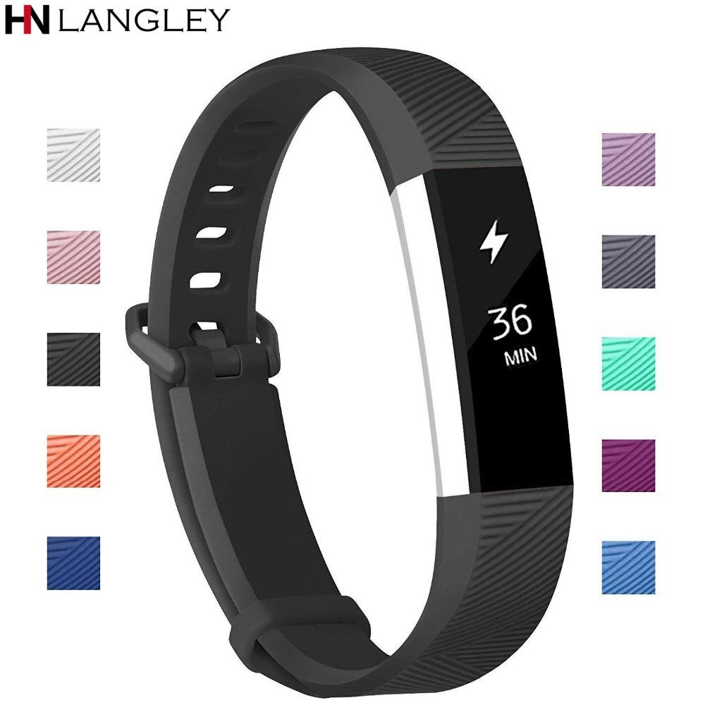Compatible For Fitbit Alta Bands Soft Silicone Replacement Bands Varied  Colors Secure Buckle For Fitbit Alta HR Band Strap