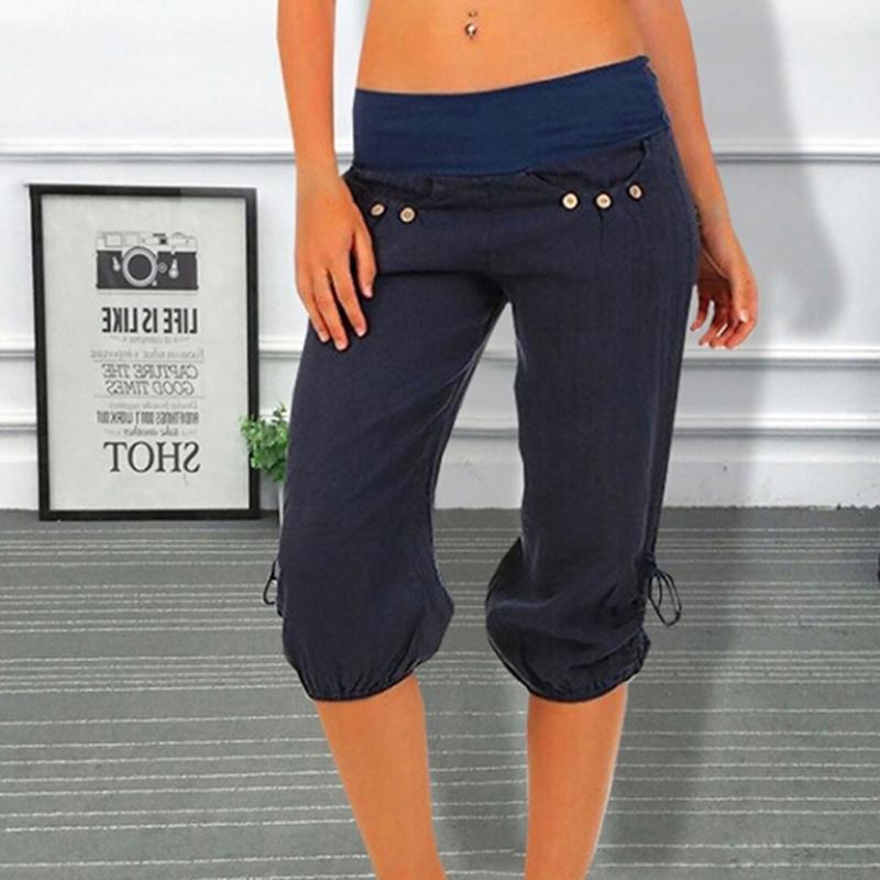 Pantalones Verano Gaoke Tallas Elástica Casual 2018 Capris Pantalón Grandes Cintura Mujer Harem Coloridos AR5j4L