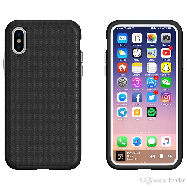 the best attitude 498bc 77156 2018 Anti skid for samsung galaxy s9 plus case football grain pc+tpu hydrid  protective cover for goophone x designer phone case