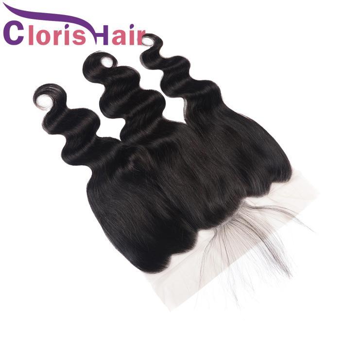 Cheveux humains non transformés Dentelle Frontal fermeture 13x6 Body Virgin Malaisie alter- nances Piece fronteaux libre partie onduleux avant de dentelle Fermeture bébé cheveux