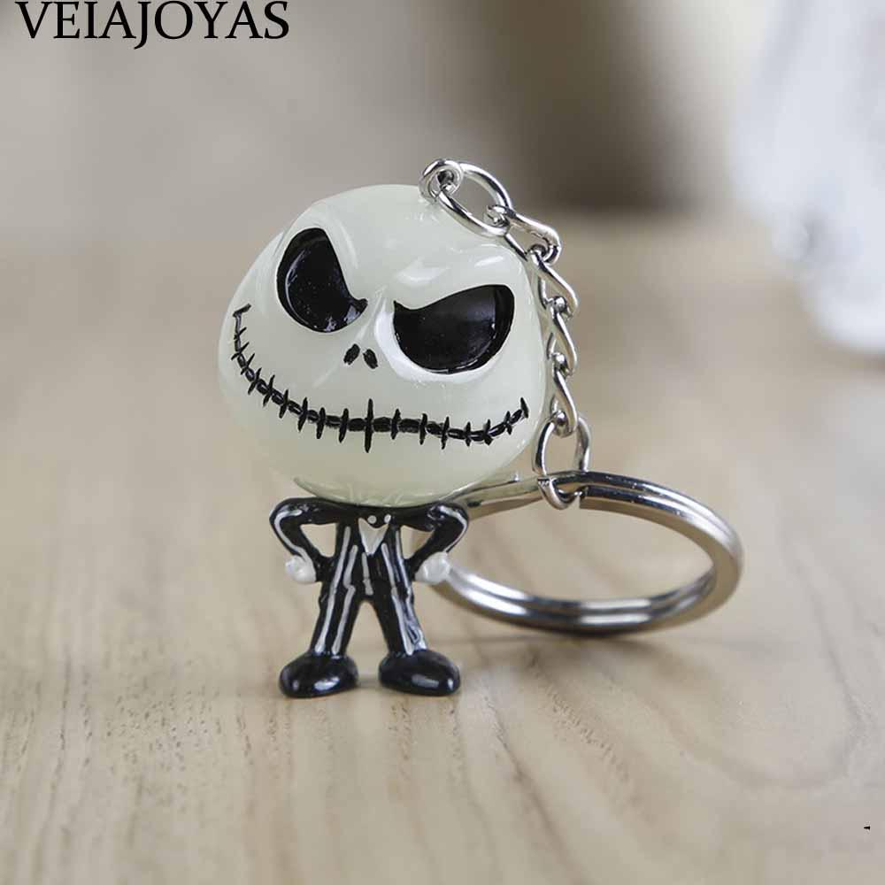 4 Styles The Nightmare Before 3D Christmas Jack Skellington Keychain ...