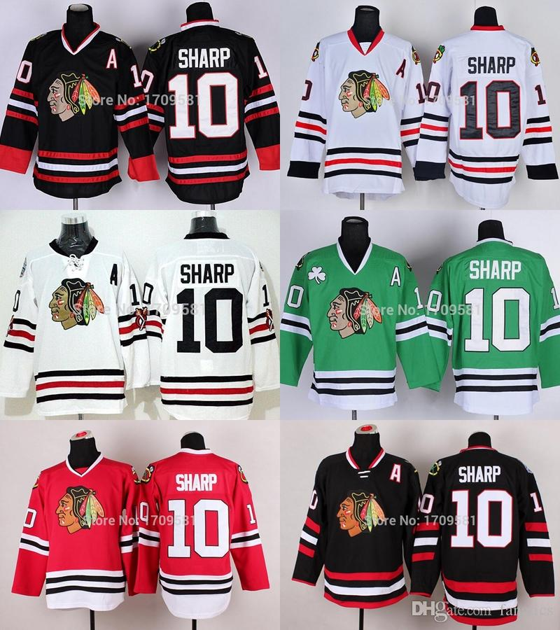sale retailer 3a290 3c667 2017 Chicago Blackhawks Winter Classic Patrick Sharp Jersey #10 Stadium  Series Black Ice Skull Charcoal Cross Check Jerseys