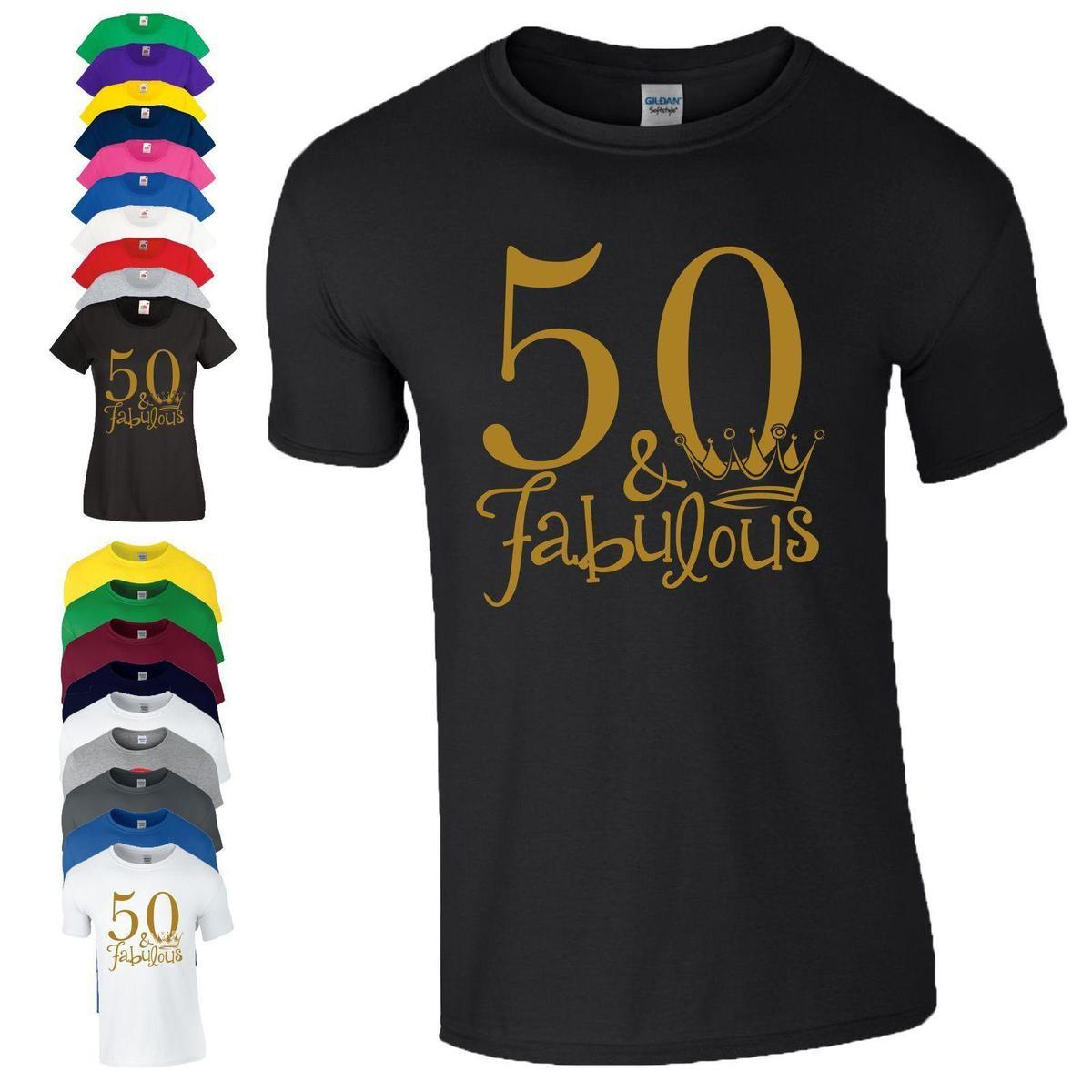 8723ac432 50th Birthday Gift T Shirt Made In 1968 King Queen 50 Fabulous Crown Mens Ladies  T Shirts Best Best Funny Shirts From Liguo0027, $15.53| DHgate.Com