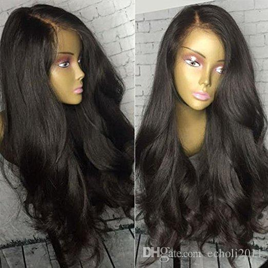 Wet and wavy full lace human hair wig 180% density loose wave gluelss lace front human hair wig for black women 16inch