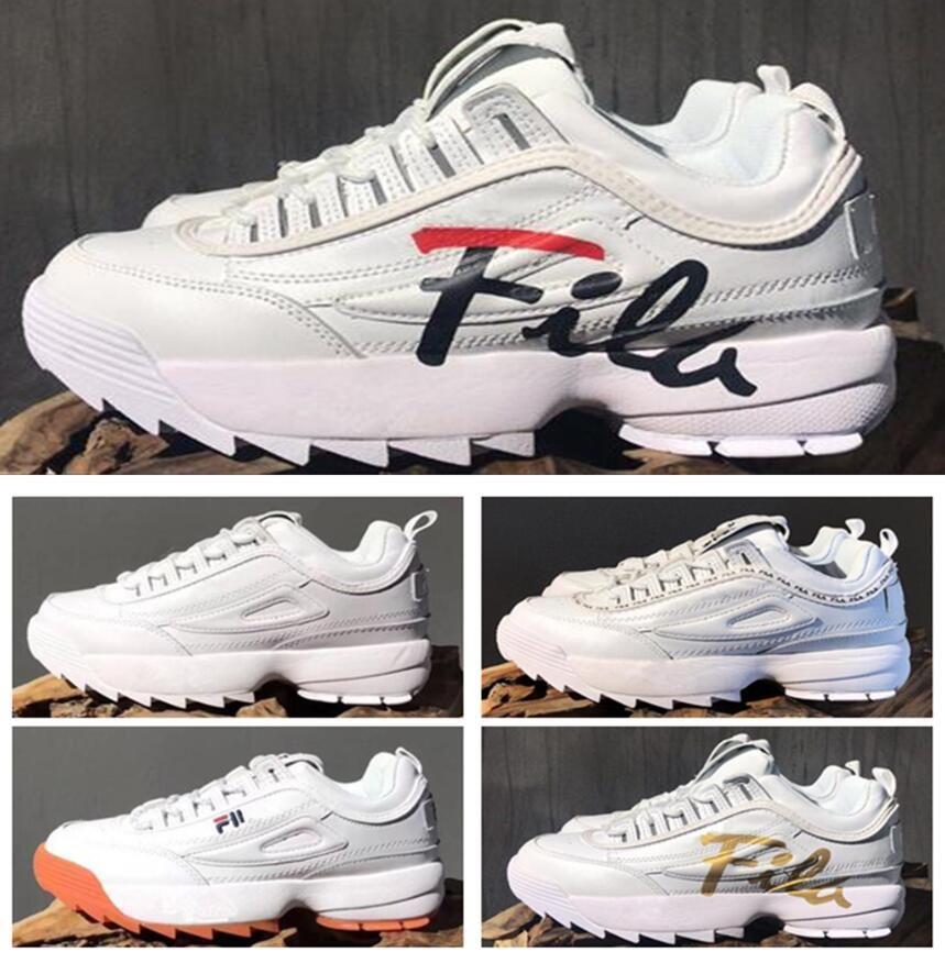 half off 86bee b00ae Compre Moda Disruptores De Goma Blanca 2 Sawtooth Grande 2018 Causal Blanco Negro  Zapatos Letras Grandes Hombres Mujeres Oro Rosa Zapatillas De Deporte ...