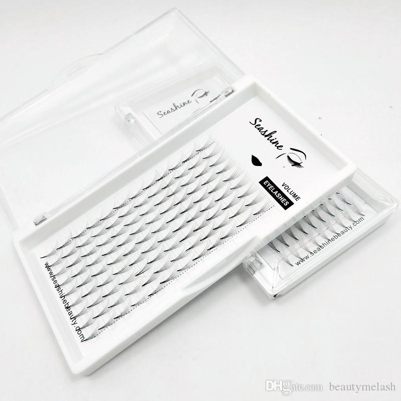 Classic 6D Middle Lash Extensions 0.07 Thickness Individual Lashes Hair Mink Volume Eyelashes Individual Lashes Premade Fans Handmade Lashes