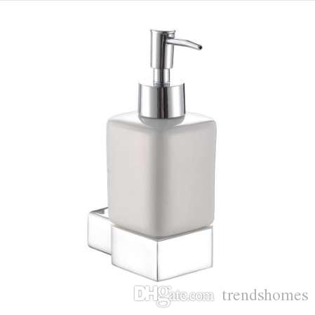 2019 Chrome Liquid Soap Dispenser Holder Vintage Brass Wall Mounted