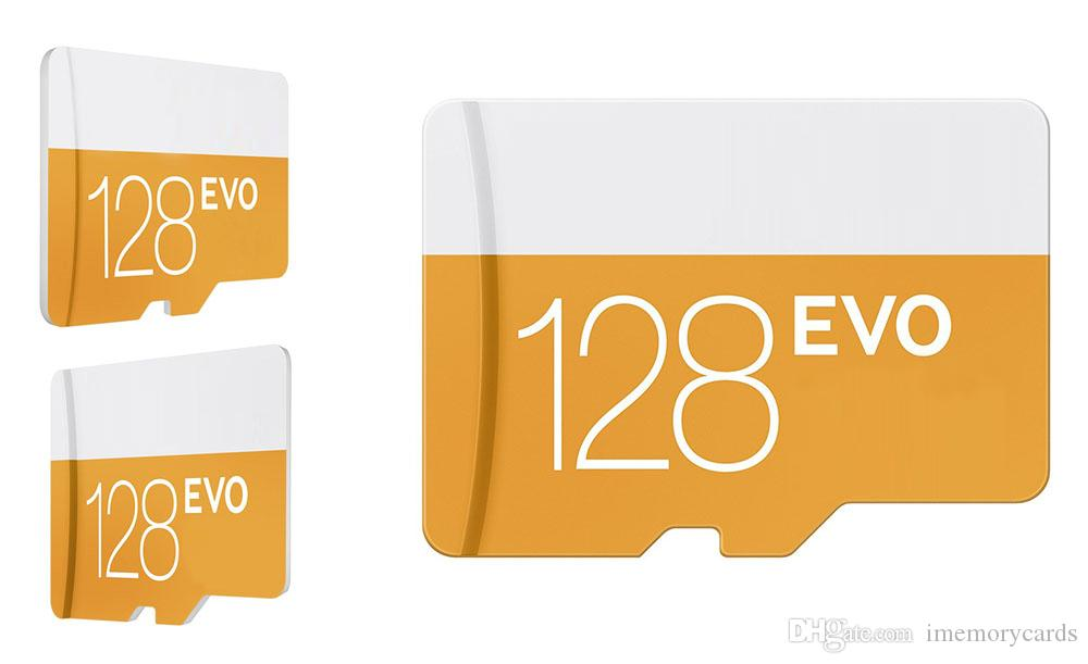 2018 hot selling Orange EVO 32GB 64GB 128GB 256GB Card TF Card C10 Flash Adapter orange Blue with free shipping