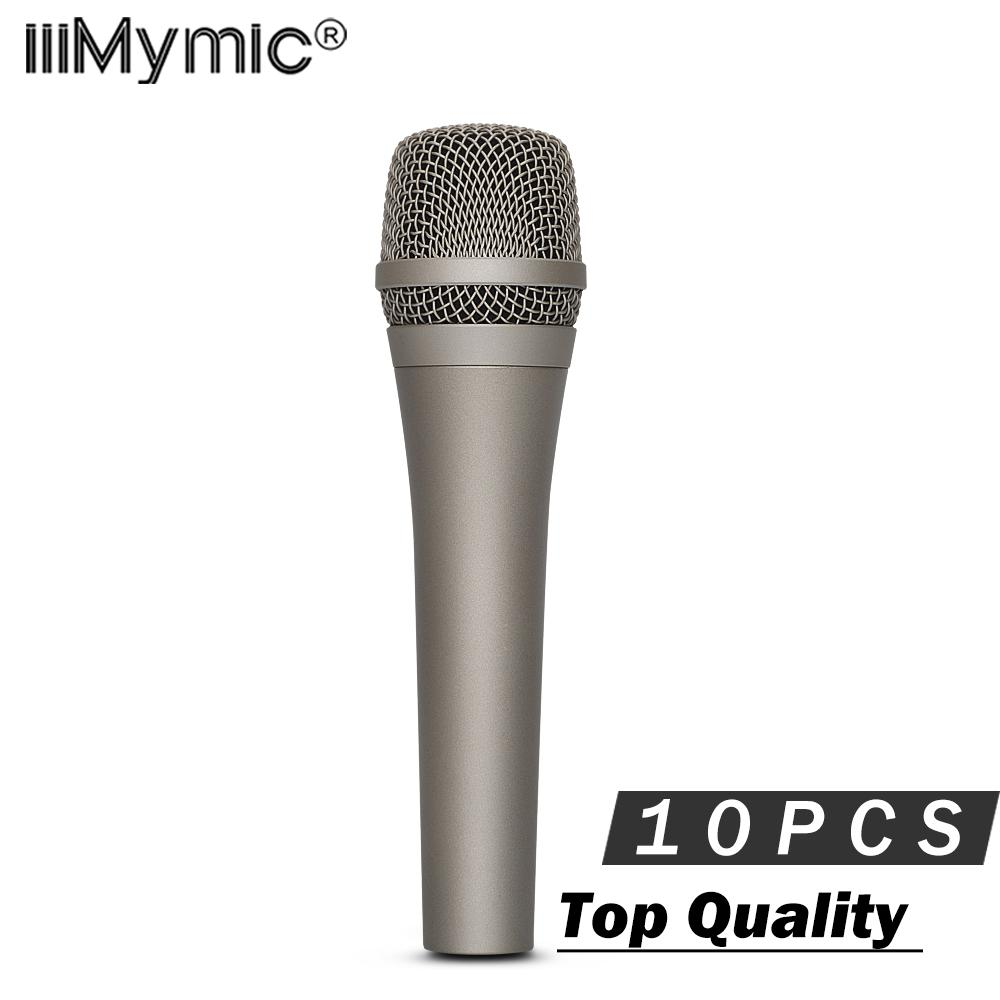 10PCS Best Quality Super Cardioid Gold Vocal Microphone !! Professional  Karaoke Dynamic Handheld Wired Mic Mike Microfone Mic