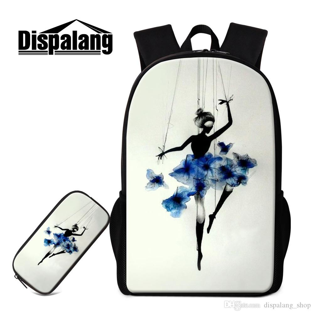 Art Backpack And Pencil Case for Children Ballet Girls Designer ... 949b90c100d51