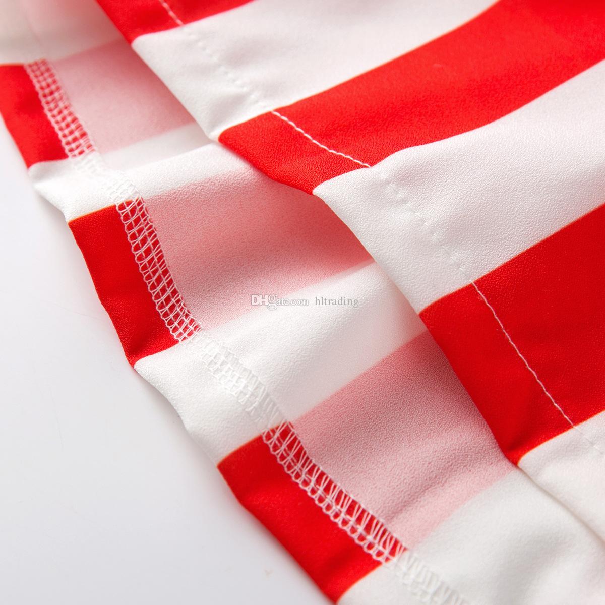 Meninas do bebê vestido de bandeira Americana 2018 verão 04 de julho Crianças suspensor Star stripes print princess dress Crianças Roupas frete grátis C4246