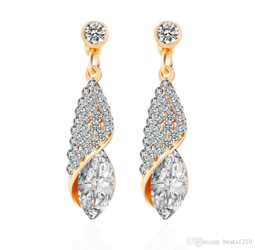 2019 Hot Diamond Earrings For Women Girls Ear Rings 2018 Korean Fashion Birthday Gifts Ideas ValentineS Day Charming Wholesale Jewelry Stores From