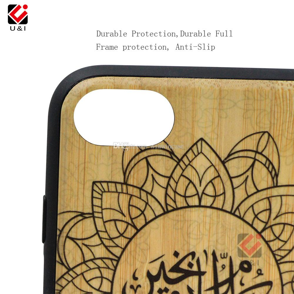 Fish design wood cell phone case for iPhone 6 6s s,dual layer wood + pc + tpu hybrid Shockproof cases for i Phone i6s