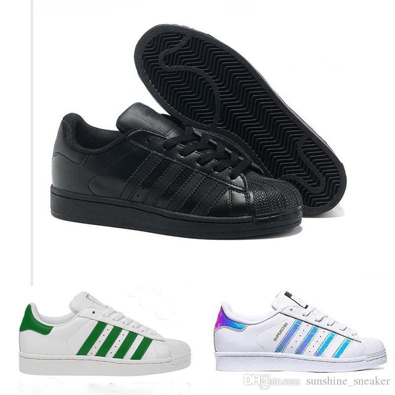 9296d29d1665 Adidas Superstar 80s Original Holograma blanco Iridiscente Junior Gold  Superstars Sneakers Originals Super Star Mujer Hombre Zapatos ocasionales  36-45