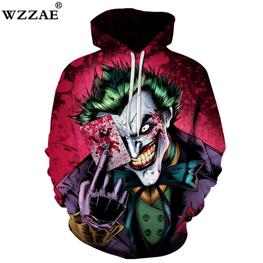 c804822f11 2019 Plus Size S 6XL 2018 New Sweatshirts Men Brand Hoodies Men Joker  Suicide Squad Deadshot 3D Print Hoodie Male Casual Tracksuits From  Darnelly