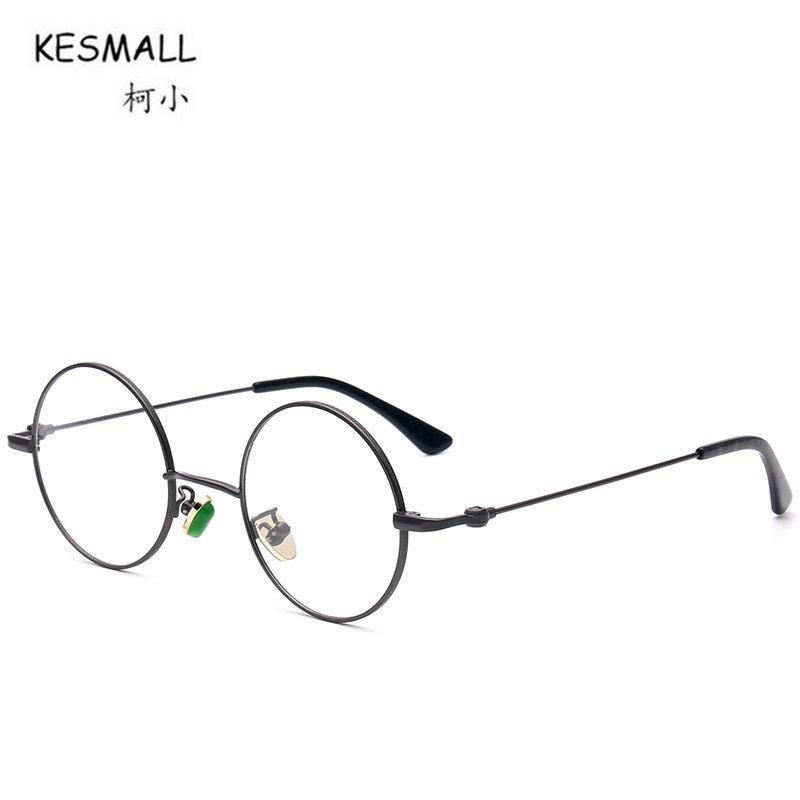 65e01daf7d0 2019 KESMALL New Retro Round Shaped Glasses Frame Black Women Men Eyeglasses  Frames Optical Eyewear Occhiali Da Vista Donna XN202 From Haydena