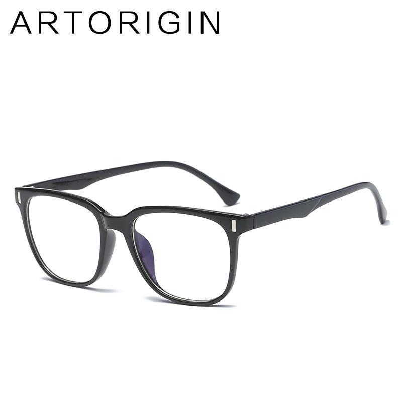 9278921a15 ARTORIGIN Unisex Square Glasses Frame Ultra Light TR90 Optical ...