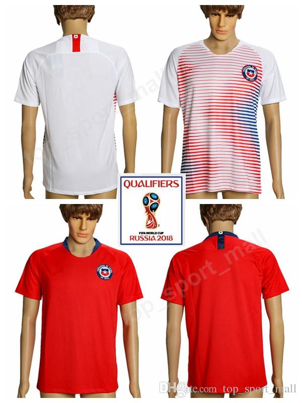... germany 2018 2018 chile soccer jersey world cup home red away white 18  19 men sanchez 2afbca294