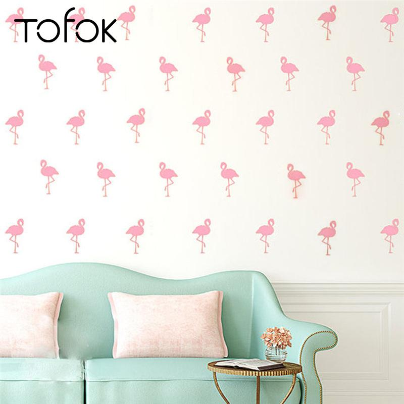 Tofok Cartoon Flamingo Wall Sticker Diy Living Room Bedroom Decor Wall  Decals Children Bedroom Art Mural Nordic Style Home Decor Unique Wall  Decals Wall ...