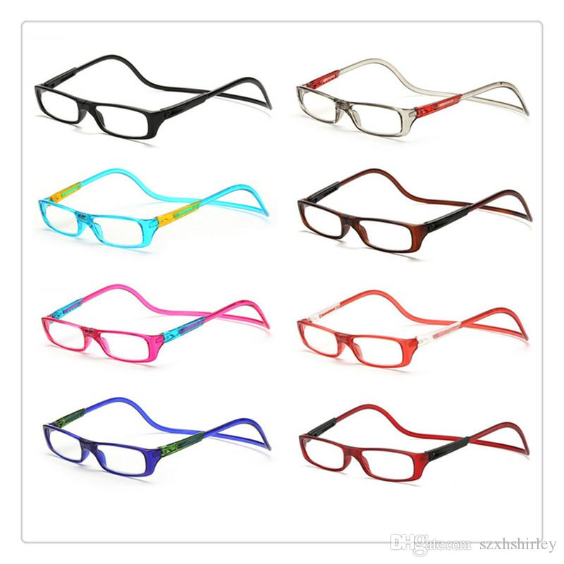 8ac8b99075 Unisex Magnet Reading Glasses Vision Care Men Women Colorful ...