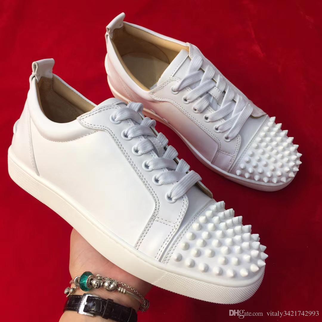 5933d6287 2018 nouveau style modèle célèbre marque faible aide blanc chaussures en  cuir de couleur pour hommes femmes avec des pointes orteil chaussures ...