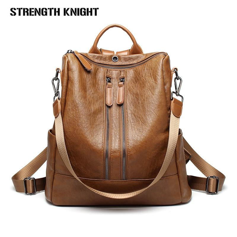 d20a95a4d7 2018 New Fashion Woman Backpack Leather Female Backpacks High Quality  Schoolbag Backpack Elegant S Escolar Feminina Mesh Backpack Justice  Backpacks From ...