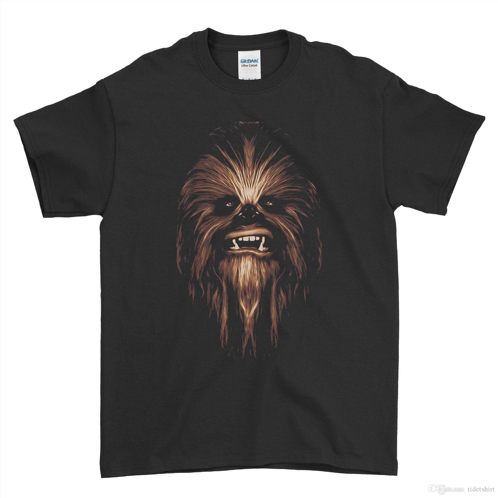 Grosshandel Chewbacca T Shirt Gesicht Chewie Darth Vader Wookie