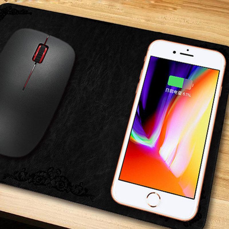QI Cargador inalámbrico Cargador de móvil inalámbrico Thinness Wireless Thinness Cargador de ratón inalámbrico para iPhone X OTH808