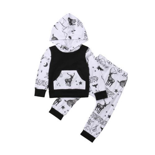 f0f26fbb0 2019 Newborn Baby Girl Clothes Sets Cute Animals Printed Hooded Long ...