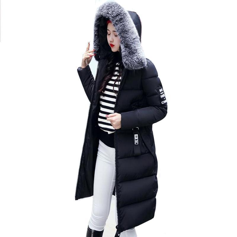 best cheap d49ba f4f43 Winterjacke Frauen Mantel Dicke Lange Damen Parka Mit Kapuze Weibliche  Outwear Mantel Unten Baumwolle Gepolsterte Parka Winter Frauen Jacke Großen  ...