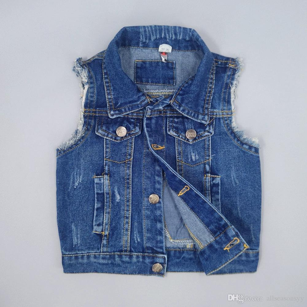 Baby Jeans Vests Spring Autumn Boys Girls Babe Jeans Jacket Denim