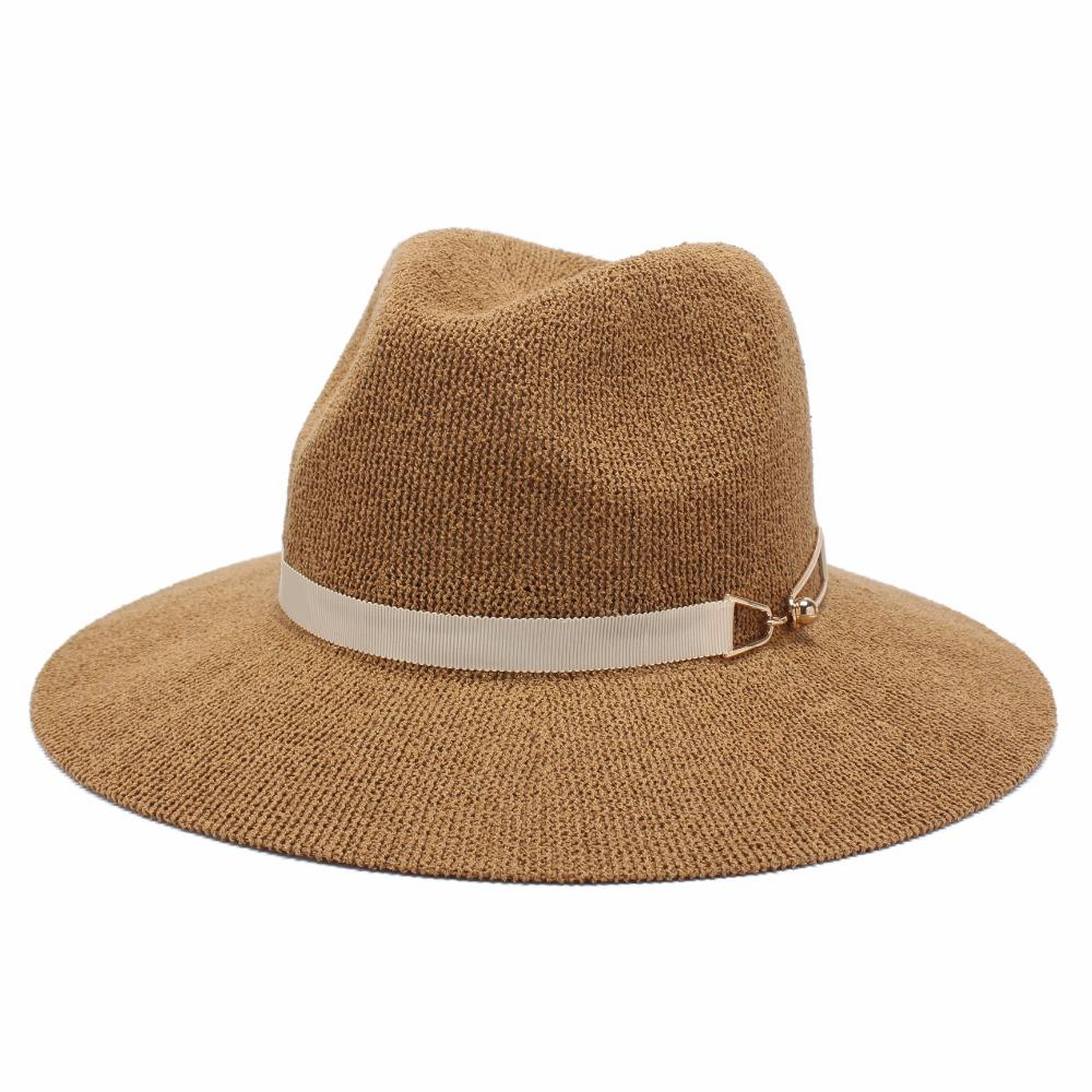 2019 ROSELUOSI Women Fedora Hats Ladies Casual Solid Color Jazz Hat Summer  Autumn Knitted Sunhat For Girl Femininos Casquette From Wonderliu 3f25ee34d48