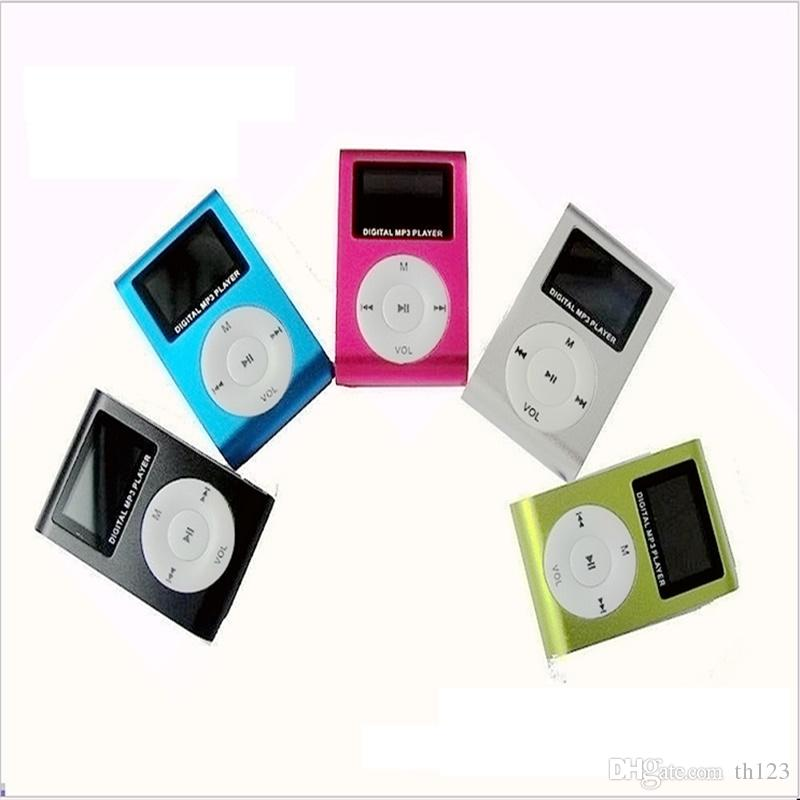 MP3 Support Micro TF/SD Slot With Earphone and USB Cable Portable MP3 Music Players Free Shipping CD002