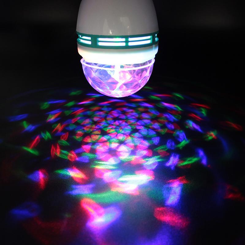 Scène 85 3w Fête Ampoules Lampe Bombilla De Danse Dj La 265v E27 Rvb Boule Lumière Luz Led Ampoule Tournante Disco 4A5Lj3R