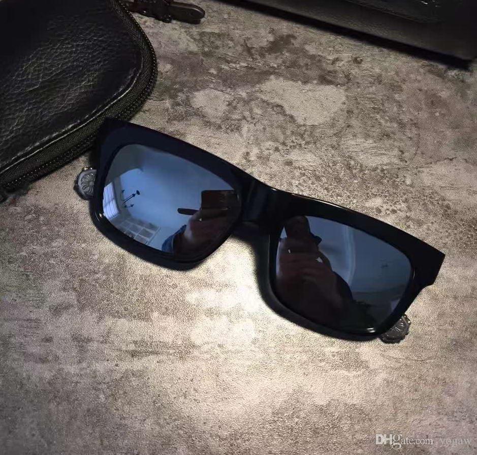 8eab9ba779 Compre Gafas De Sol Negras Polarizadas Para Hombre CHROME Lunch Marca De  Moda The Beast Sunglasses Nuevo Con Estuche A $58.38 Del Yogaw   DHgate.Com