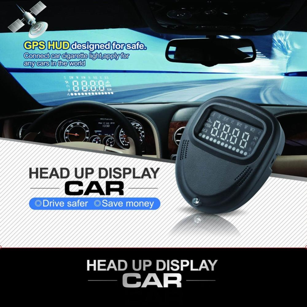 Car HUD Head up Display OBD II Speed Limit Warning Monitor Universal Multi-color Screen A1