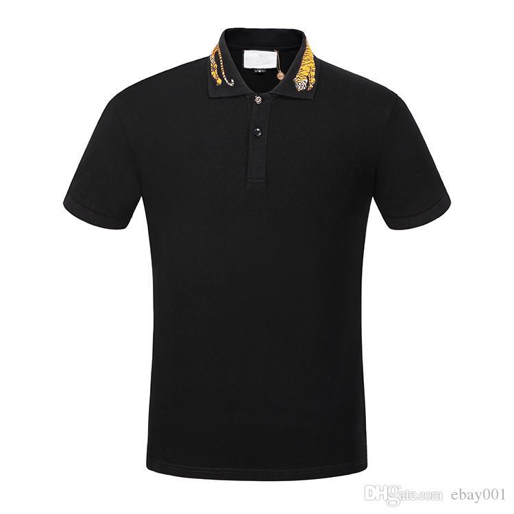 8b1c6f243 Tout nouveau designer classique revers t-shirt été manches courtes hommes  100% coton polo shirt hommes se sentent hanche 3g mens t shirts