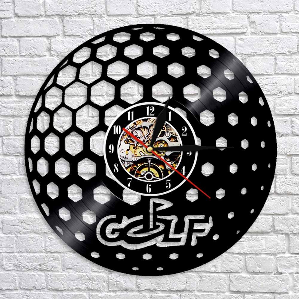 Golf Ball Vinyl Record Wall Clock Creative Modern Time Clocks Personlized  Handmade Craft Wall Art Decor For Golf Club Wall Clocks Design Wall Clocks  ...