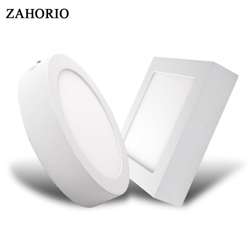 Round/Square LED Panel Light Surface Mounted 6W 12W 18W 24W LED Ceiling  Recessed Downlight AC85-265V Driver Free shipping