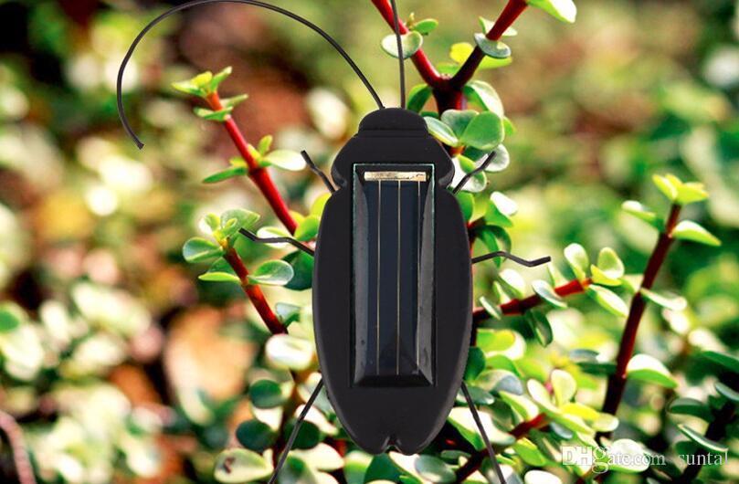 Nuevo juguete Niños Juguetes Solares Energía Energía Cucaracha Solar 6 Piernas Negro Niños Insecto Bug Enseñanza Diversión Gadget Juguete de Regalo Para Niños