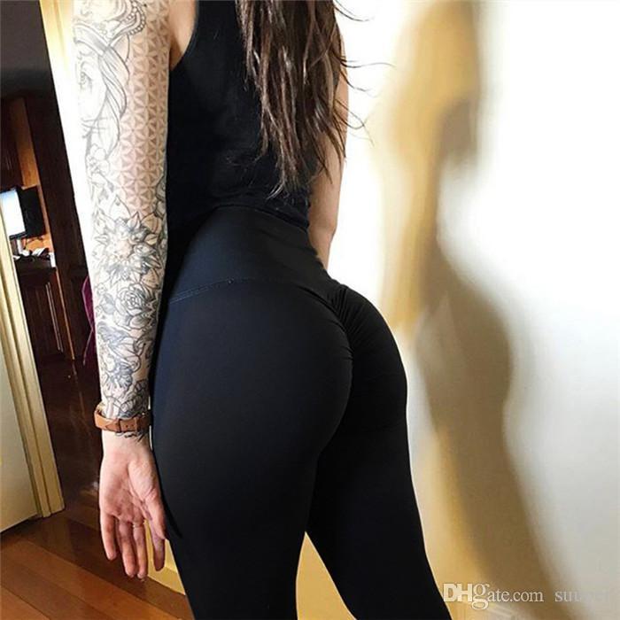 Push up yüksek bel Spleggings kadınlar spor spor giydirin 2018 Yaz Ince ince dantelli vücut geliştirme kadın pantolon athleisure Sıska legging