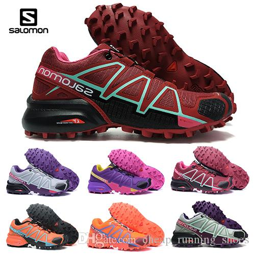 043540c36976 Salomon Speed Cross 4 CS IV Running Shoes Black Silver Red Pink Blue Women  Outdoor SpeedCross 4s Hiking Womens Sports Trainer Sneaker 36 42 Running  Shoes ...